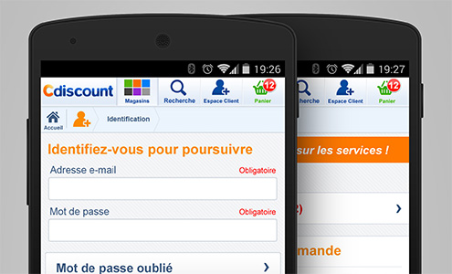 Version mobile du site Cdiscount