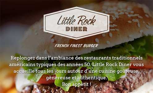 Version desktop du site LittleRock Diner