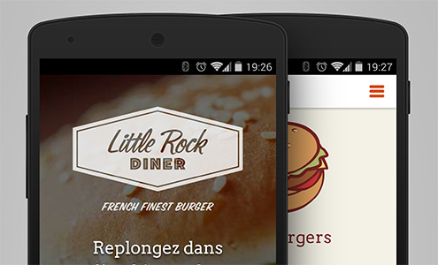 Version mobile du site LittleRock Diner