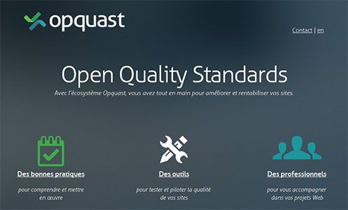 Version desktop du site Opquast