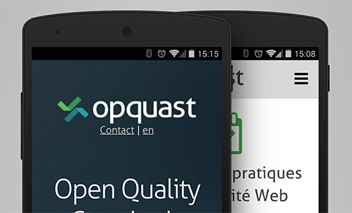 Version mobile du site Opquast